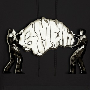 GREAT MINDED ENT WALL ART BEING HUNG BY TWO MEN - Men's Hoodie