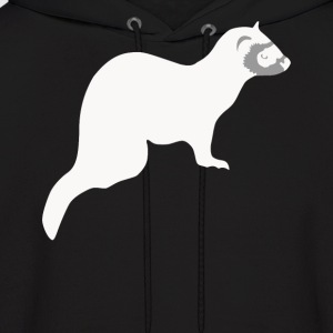 Cute Pet Ferret Silhouette Animal Lover - Men's Hoodie