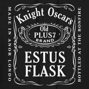 Knight Oscar's Estus Flask Label Design - Men's Hoodie