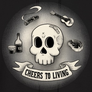 Cheers to living3 8transdither - Men's Hoodie