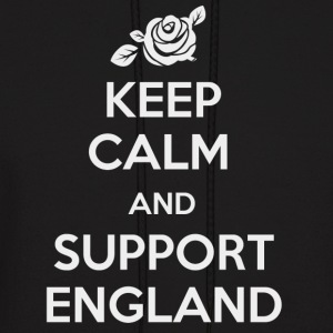 Keep Calm and support England - Men's Hoodie