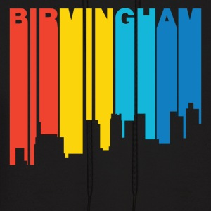 Retro 1970's Style Birmingham Alabama Skyline - Men's Hoodie