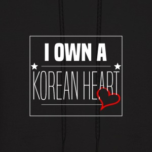 '' I Own A Korean Heart '' Design - Men's Hoodie