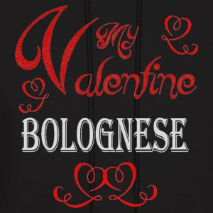 A romantic Valentine with my Bolognese - Men's Hoodie
