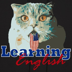 Learning English Cat - Men's Hoodie