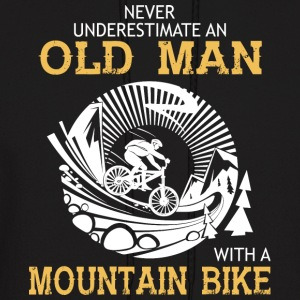Old Man With A Mountain Bike T Shirt - Men's Hoodie