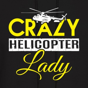 Crazy Helicopter Lady T Shirt - Men's Hoodie