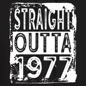 Funny 40th Birthday Gift: Straight Outta 1977 Tee - Men's Hoodie