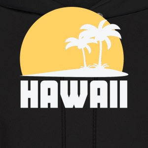 Hawaii Sunset Palm Trees Beach - Men's Hoodie