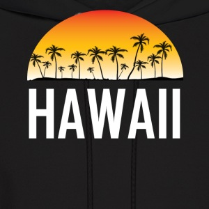 Hawaii Sunset And Palm Trees Beach Vacation - Men's Hoodie