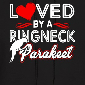 LOVED BY A RINGNECK PARAKEET SHIRT - Men's Hoodie