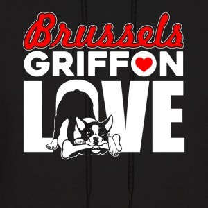 BRUSSELS GRIFFON LOVE SHIRT - Men's Hoodie