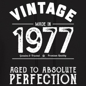 Funny 40th Birthday Present Vintage Made in 1977 - Men's Hoodie