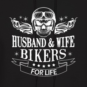 Husband And Wife Bikers For Life T Shirt - Men's Hoodie