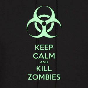 Keep calm and kill zombies, zombie light green - Men's Hoodie