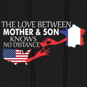 Mother & Son Love Knows No Distance US & France - Men's Hoodie