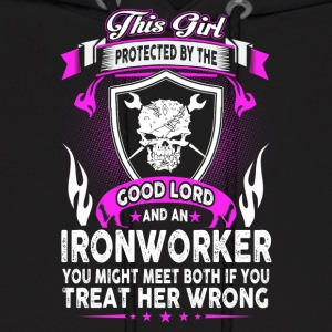 This Girl Is Protected By Ironworker - Men's Hoodie