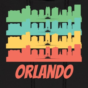 Retro Orlando FL Skyline Pop Art - Men's Hoodie