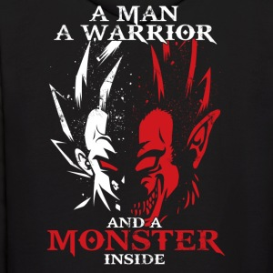 dragon ball majin vegeta monster in side - Men's Hoodie