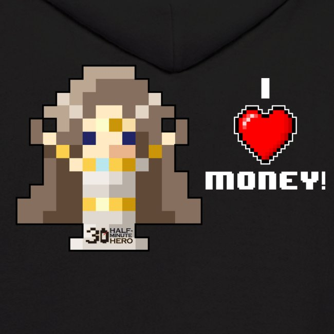 Time Goddess - I HEART Money (White text)