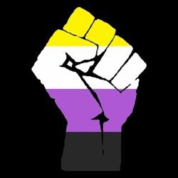 Non-binary Raised Fist