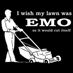 Iwish my lawn was EMO so it would cut itself
