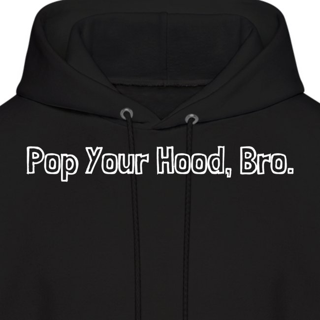Pop Your Hood Bro logo white png