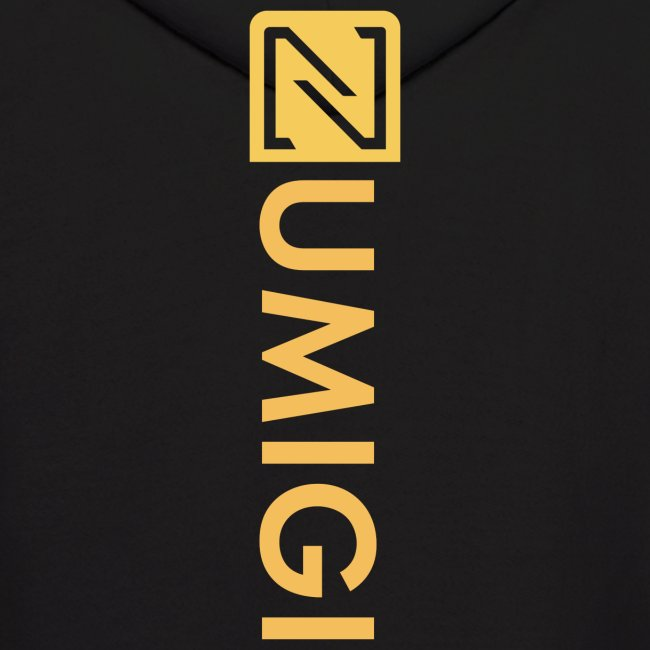 Molleton à capuche noir, logo jaune