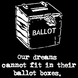 Our dreams cannot fit in their ballot boxes.