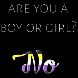 Are you a boy or girl? No