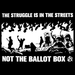 The struggle is in the streets, not the ballot box