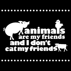 Animals are my friends and I don\'t eat my friends