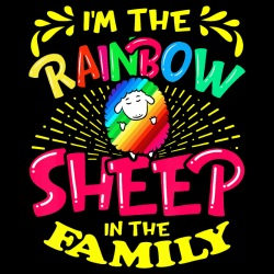 I\'m the rainbow sheep in the family