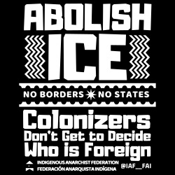Abolish ICE - No borders, no states. Colonizers don\'t get to decide who is foreign