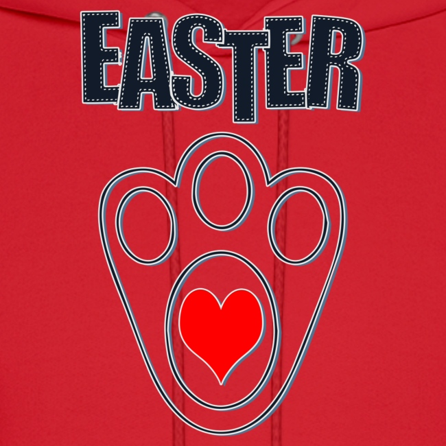 Easter Bunny Footprints, Easter Heart Bunny