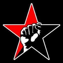 Red & Black Raised Fist