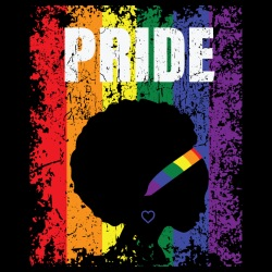 Pride LGBTQ Afro woman