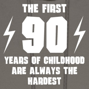 The First 90 Years Of Childhood - Men's Hoodie