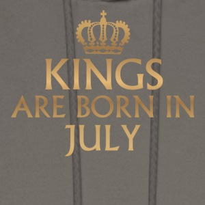 Kings are Born in July - Men's Hoodie