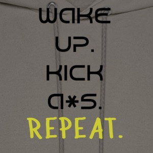 Wake Up and Kick A*s! - Men's Hoodie