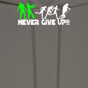 Zombie never give up Fun - Men's Hoodie