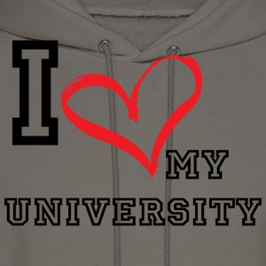 I_LOVE_MY_UNIVERSITY - Men's Hoodie
