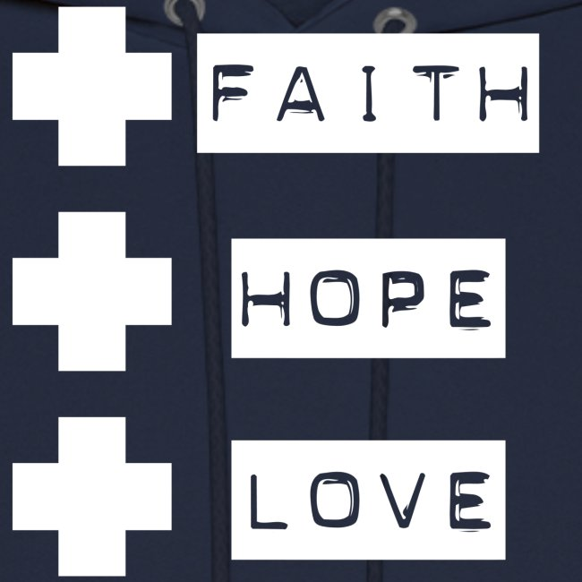3 crosses , faith hope love