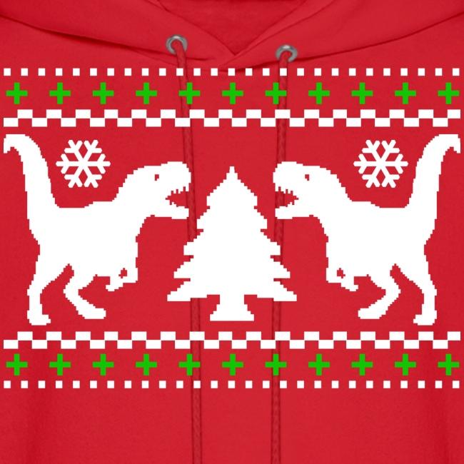 T Rex Christmas.Ugly T Rex Christmas Sweater Men S Hoodie