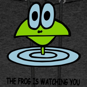 the frog is watching you - Men's Hoodie