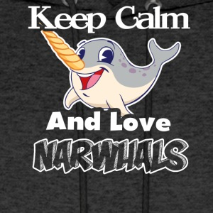 KEEP CALM AND LOVE NARWHAL TEE SHIRT - Men's Hoodie