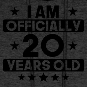 I Am Officially 20 Years Old 20th Birthday - Men's Hoodie