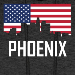 Phoenix Arizona Skyline American Flag - Men's Hoodie
