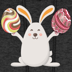 Bunny Happy Easter Eggs - Men's Hoodie