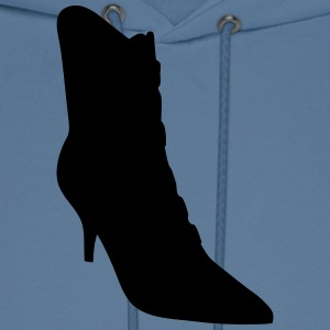 Vector high heels shoes Silhouette - Men's Hoodie